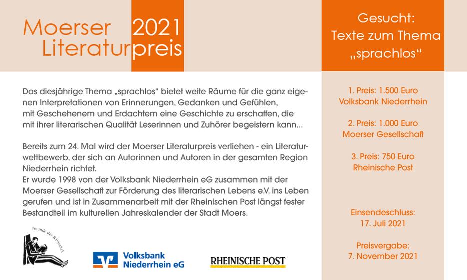 Moerser Gesellschaft für Literatur - Literaturpreis 2021 - Seite 1