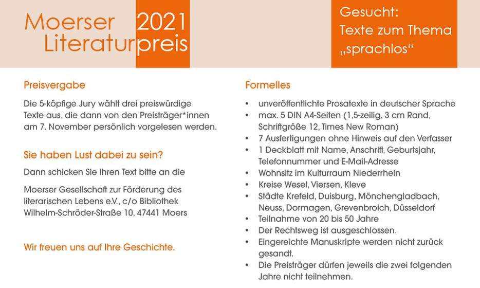 Moerser Gesellschaft für Literatur - Literaturpreis 2021 - Seite 2