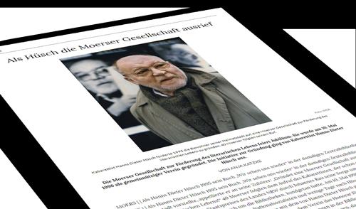 Presseartikel vom 22.04.2021 Moerser Gesellschaft