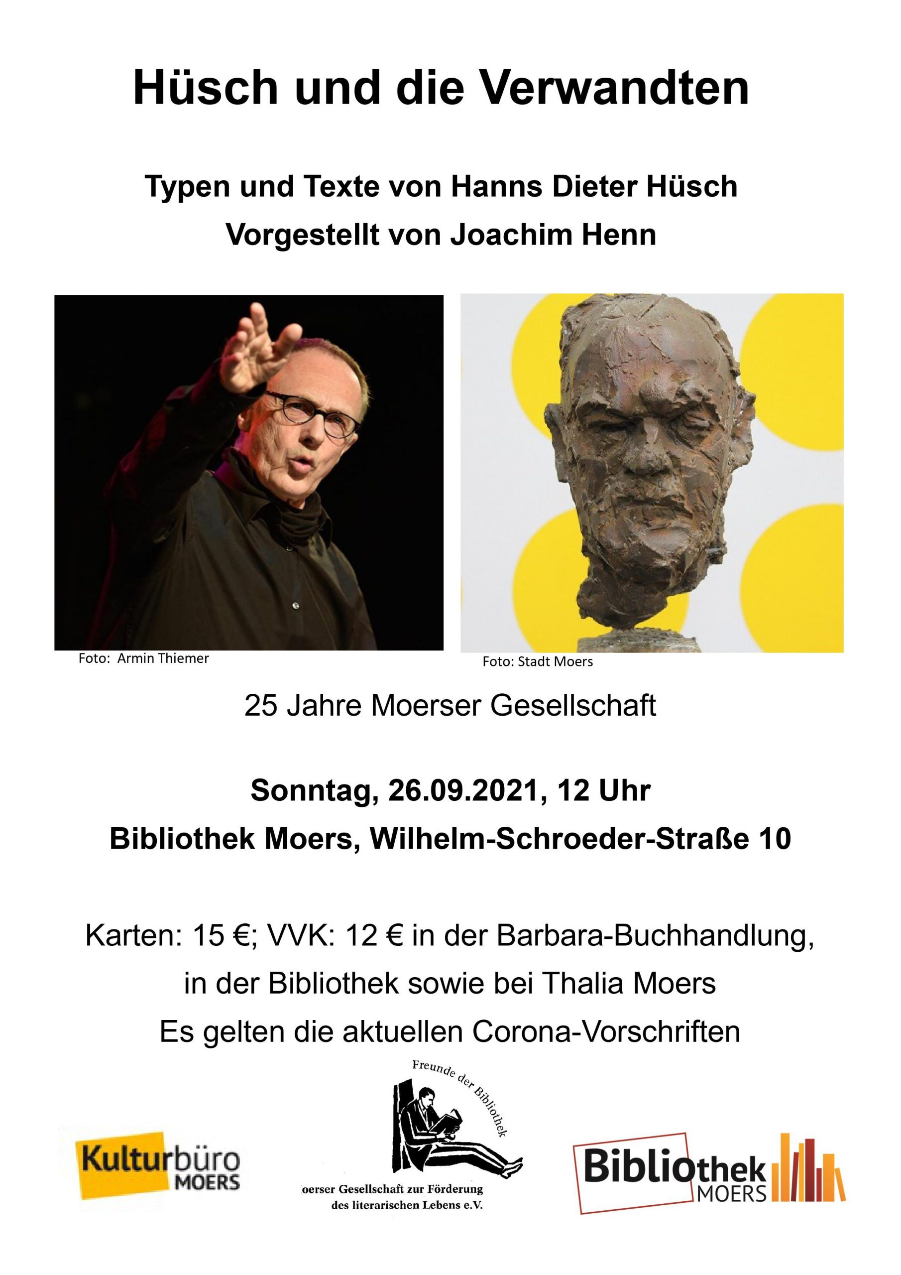 Jubiläum 25 Jahre Moerser Gesellschaft, Lesung mit Joachim Henn